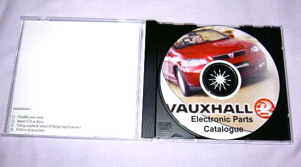 Vauxhall & Opel Electronic Parts Catalogiue (EPC) on CD